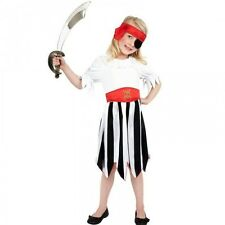 Girls Pirate Girl Fancy Dress Outfit / Costume Age 4 5 6 7 8 9 10 11 12 Smiffys