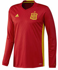 ADIDAS EURO 2016 SPAIN LONG SLEEVE HOME JERSEY Scarlet/Bright Yellow