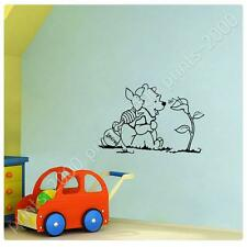 STICKER Alonline Designs Winnie The Pooh and Piglet wall art Self Adhesive