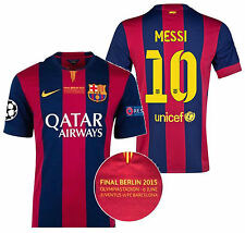 NIKE L. MESSI FC BARCELONA CHAMPIONS LEAGUE FINAL BERLIN 2015 AUTHENTIC JERSEY.