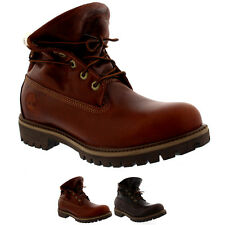 Mens Timberland AF Roll Top Leather Laced Fur Cuff Winter Ankle Boot US 7.5-12.5