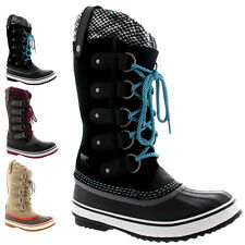 Womens Sorel Joan Of Arctic Knit Mid Calf Snow Winter Lace Up Rain Boots US 5-10