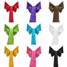 25x Satin Chair Sashes Bows for Wedding Anniversaries Christening Party Banquet