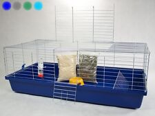 XXL INDOOR RABBIT GUINEA PIG HAMSTER HUTCH PET CAGE 120x60x43 CM + 5 GIFTS