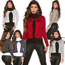 Ladies Fine Knit Cardigan Bolero Polka Dots Dots S 34 36 38 top