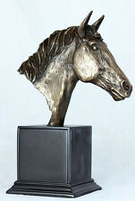 LARGE HORSE HEAD BUST Bronze Sculpture by HEREDITIES Ideal Gift or Trophy SUPERB