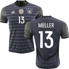 ADIDAS GERMANY EURO 2016 THOMAS MULLER AWAY JERSEY Dark Grey Heather