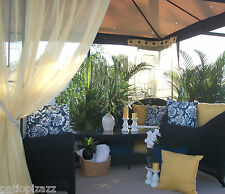 Patio Pizazz  Indoor Outdoor Patio Gazebo Drapes Panels Curtains