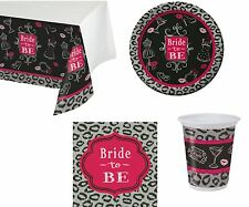 Hen Girls Night Out Bridal Bash Party Tableware Napkins Plates Cups Tablecover