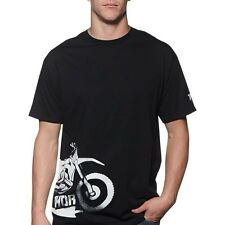 Thor NEW Mx Overspray T-Shirt Motocross FMX Moto Mens Black Tee Shirt