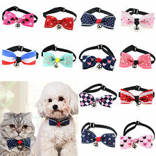 yeah Adjustable Puppy Kitten Dog Cat Pet Bow Tie With Bell Necktie Cute Collar
