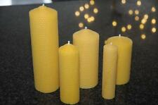 Beeswax candles from 100% pure beeswax sheets hand made rolled Choose from list