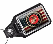 United States Marine Corps Emblem and Your Choice of MOS Key Ring -Two Key Rings