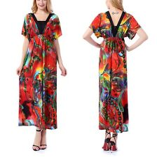 L/XL/XX/3X/4X/5X/6X Plus Size Sexy Woman Summer Long Maxi Dress V Neck Design