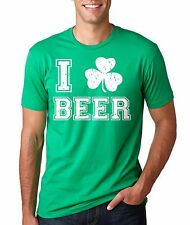 I Love Beer Irish Ireland T-shirt St Patricks Day T-shirt Beer T-shirt St Pattys