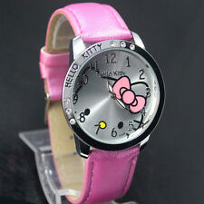 New Hello Kitty Ladies Girls Fashion Crystal Quartz Wrist Watch Ideal Gift