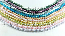 variation color  8-9mm near round freshwater pearl bead loose necklace