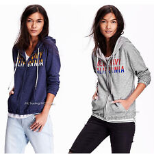 NWT Old Navy Women's Logo French Terry Zip Hoodie Lightweight Jacket sweatshirt