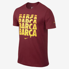 NIKE FC BARCELONA SOCCER CORE TYPE T-SHIRT Red.