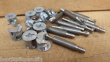 ALLOY CAMS AND STEEL CAM DOWELS JOB LOT DEAL 10 OR 25 MFI IKEA FLAT PACK CUPBD
