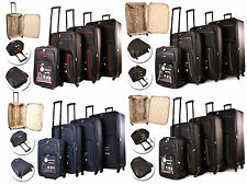 Expanding Lightweight 4 Wheel Spinner SuitCase Trolley Travel Luggage Cabin Case