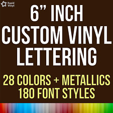 """6"""" Custom Vinyl Lettering Text Name Wall Window Decal Sticker Art Personalized"""