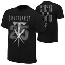 "WWE THE UNDERTAKER ""25 YEARS OF THE DEADMAN"" OFFICIAL T-SHIRT NEW (ALL SIZES)"