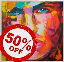 Pink Lady [70x70] FRANCOISE NIELLY Palette knife style Modern art Giclee canvas
