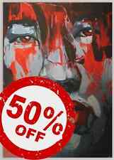 Grey Lady [50x70] FRANCOISE NIELLY Palette knife style Modern art Giclee canvas