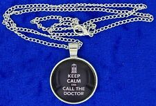Keep Calm and Call the Doctor Necklace Dr Who Doctor Who Chain Length Choice