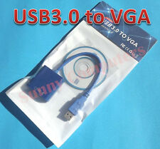 USB 3.0 to VGA Cable Video Graphic Display Card External Adapter For Win XP 7 8