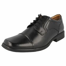SALE £39.99 MENS CLARKS HUCKLEY CAP LEATHER LACE UP TOE CAP FORMAL WORK SHOES