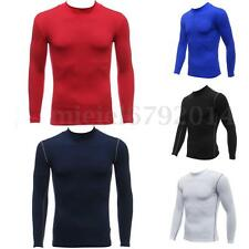 Mens Boys Body Armour Compression Baselayers Thermal Under Long Shirt Skins