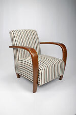 Shankar Restmore Chenille Stripe Fabric Accent Armchair in Gold or Duck Egg Blue