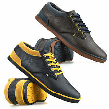 Mens Gents Casual Flat Lace Up Canvas Skate Pumps Plimsolls Trainers Shoes Size