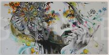 Flower Girl [50x100] Minjae Lee Modern urban art Giclee canvas Surreal style