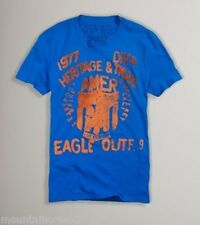 AMERICAN EAGLE Outfitters Mens Shirt Size M Vintage Fit Graphic Tee Top Blue New