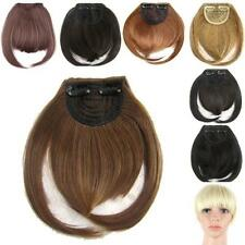 New Fashion Women Clip in Front Bang Fringe Straight Synthetic Hair Extensions