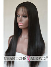 Yaki Straight Full Lace Wig 100% Remy Human Hair Glueless Wigs With Baby Hair