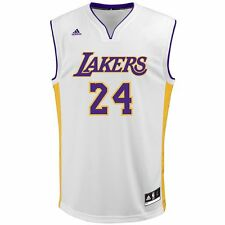 NEW MEN'S ADIDAS NBA LOS ANGELES LAKERS KOBE BRYANT JERSEY! WHITE! $70 RETAIL!