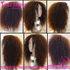 Heavy Density 160%Brazilian Afro Kinky Curl Remy Human Hair  Full/Front Lace Wig