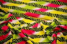 Craft-Dress-Dance-Fabric-PATTERNED FUNKY ZEBRA LYCRA-In Metres-SEWING BEE