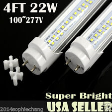 10x 4ft LED Tube Light T8 22W 2 Lines 100v-277v Replaces Fluorescent Tube Light!