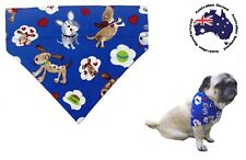 Dog Bandana Blue Dream Dog S M L Slides on Collar Pet Clothes Neck Fashion Scarf