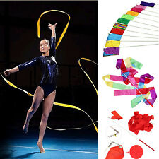 4M Dance Ribbon Gym Rhythmic Art Gymnastic Ballet Streamer Twirling Rod Colorful
