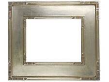 """Classic Plein Air Picture Frames Hand Applied Silver Leaf Finish 4 1/4"""" wide"""