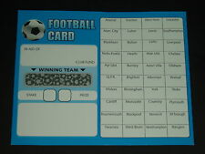 40 TEAM FOOTBALL FUNDRAISING SCRATCH CARDS - VALUE PACKS OF QUALITY CARDS