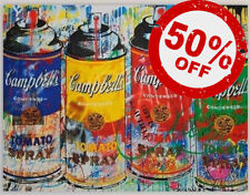 Spraycan Colours [60x80] MR BRAINWASH Graffiti modern urban art Giclee canvas