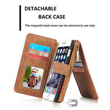 CaseMe Genuine Leather Removable Stand Flip Wallet For iPhoneSE Note5 Case Cover