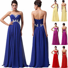GK Strapless Chiffon Prom Wedding Party Long Bridesmaid Dress Evening Ball Gown